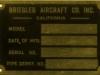 Original Briegleb Aircraft Co. Placard